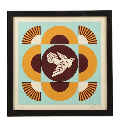 "Shepard Fairey Limited Edition Serigraph ""Geometric Doves"""