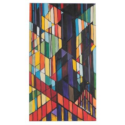 Jodi Day 21st Century Abstract Acrylic Painting