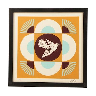"Shepard Fairey Serigraph ""Geometric Doves"""