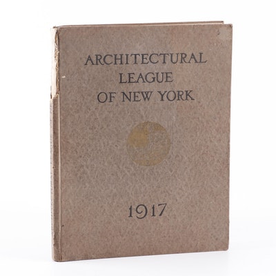 """1917 """"Architectural League of New York"""" Dual Yearbook Catalogue"""