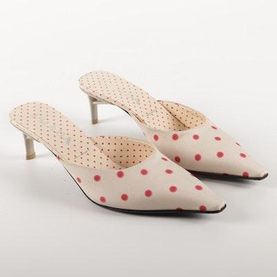 Prada Calzature Donna Polka Crepe de Chine Kitten Heels