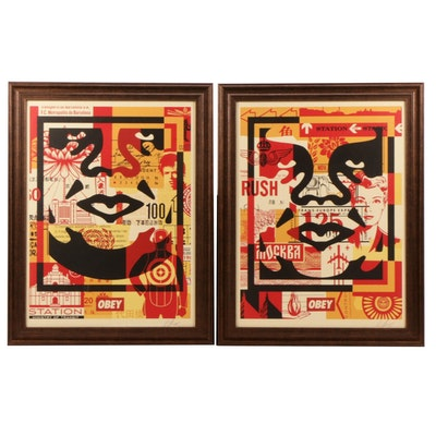 "Shepard Fairey Offset Prints ""Obey Face Collages"""