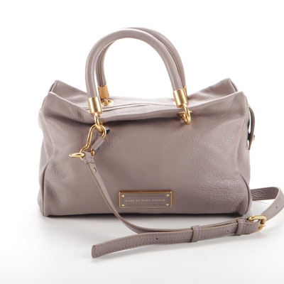 Marc by Marc Jacobs Taupe Pebbled Leather Convertible Bag