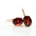 14K Yellow Gold 3.25 CTW Garnet Earrings