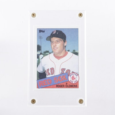 1985 Topps #181 Roger Clemens Boston Red Sox Rookie Card