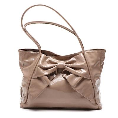 Valentino Garavani Patent Leather Betty Bow Tote Bag