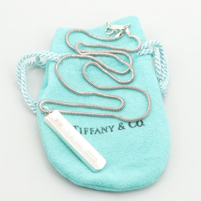 Tiffany & Co. Sterling Silver Bar Necklace