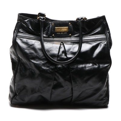 Marc Jacobs Black Leather Tote Bag