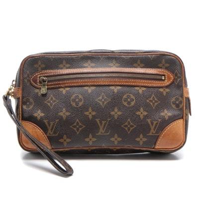 Louis Vuitton Monogram Canvas Marly Dragonne Clutch Bag
