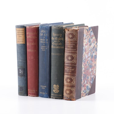 """History Books Including """"Joan of Arc: Maid of France,"""" Early to Mid-Century"""