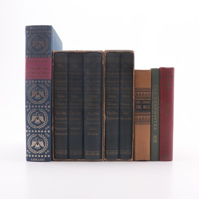 """""""Treasury of American Design and Antiques"""" with The Holy Bible in Five Volumes"""