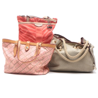 Dooney & Bourke Signature Rope Coated Canvas Satchel and Other Handbags