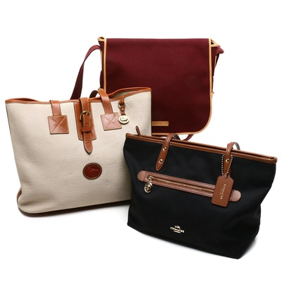 Coach Canvas Tote Bag and Dooney & Bourke Canvas and Leather Shoulder Bags