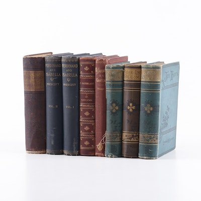 19th Century Books Including Works by Louisa May Alcott