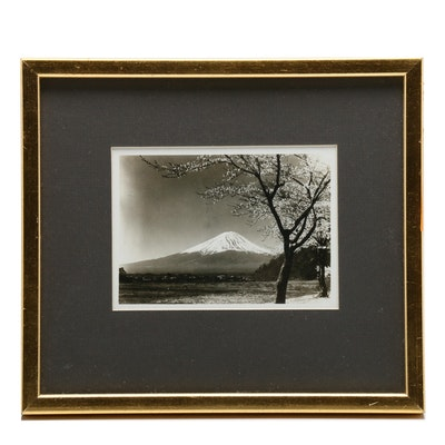 Silver Gelatin Photograph of Mt. Fuji