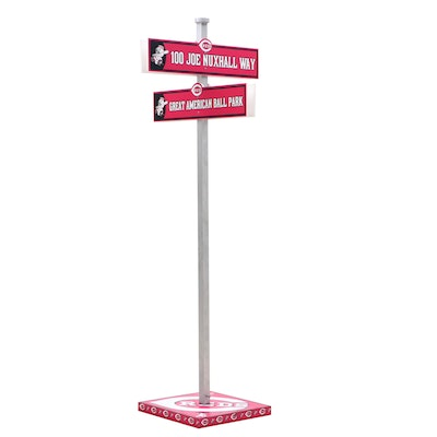 Cincinnati Reds Commemorative Nuxhall and Great American Ball Park Street Sign