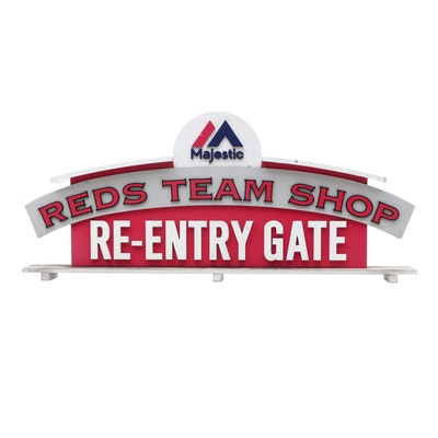 Cincinnati Reds Team Shop Re-Entry Gate Sign From Great American Ball Park