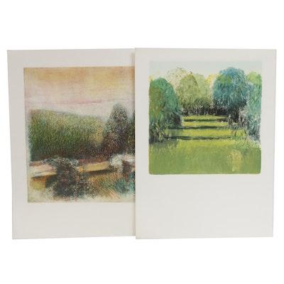 James Wilson Rayen Landscape Intaglio Prints