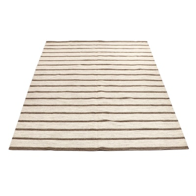 Handwoven Indian Wool Kilim Rug from Oscar Isberian