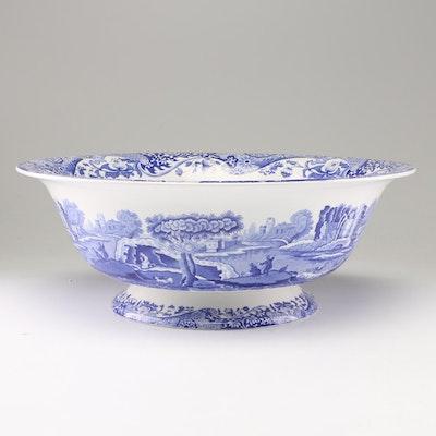 "Spode ""Blue Italian"" Stoneware Basin Bowl, Contemporary"