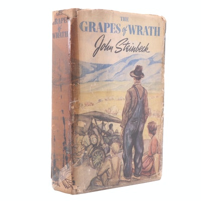 "1939 First Edition ""The Grapes of Wrath"" by Steinbeck with Dust Jacket"