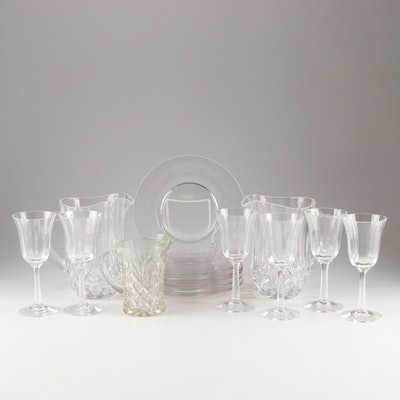 Crystal and Glass Dinnerware Grouping Featuring Lenox