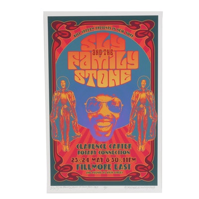 """David Edward Byrd Giclée """"Sly & the Family Stone at the Fillmore East 1969"""""""