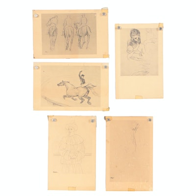 Late 20th Century Collotype Postcards after Picasso, Degas and Lautrec