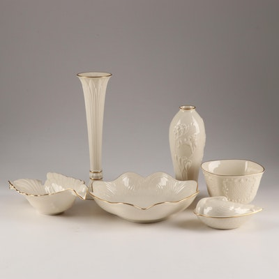 Lenox Cream and Gilt Accented Giftware, Late 20th Century