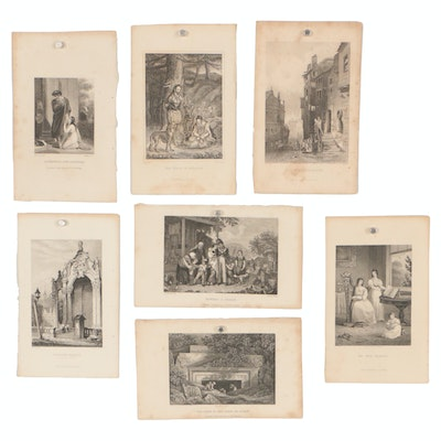 19th Century Engraved Book Plates Published by G. Henderson