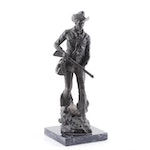 Mid 20th Century Bronze Cowboy Sculpture