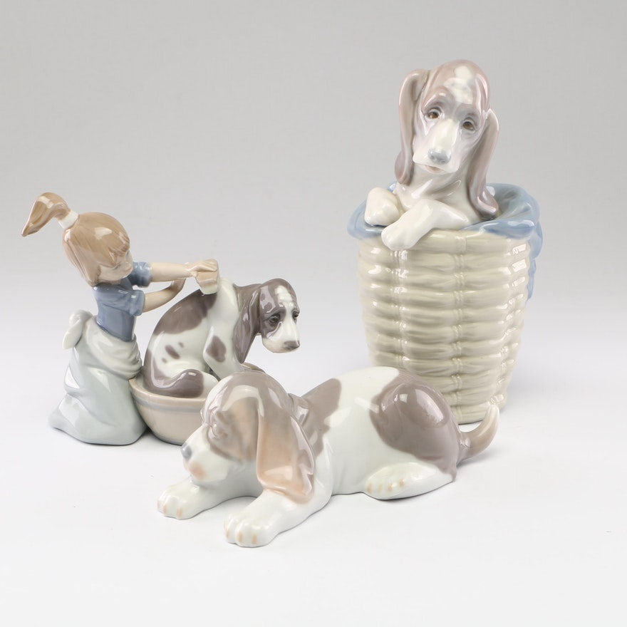 Lladró Porcelain Figurines with Dogs