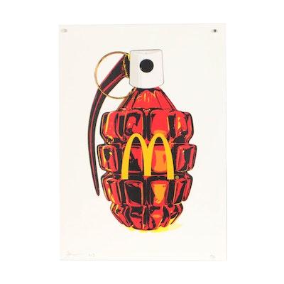 """Death NYC Graphic Print """"McDonald's Grenade"""""""