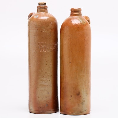 Oolgaard and Co. Fabriek De Olijfboom Harlingen Stoneware Mineral Water Bottles