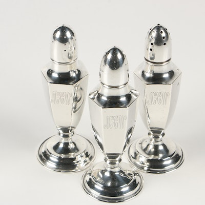 P.H. Locklin Sterling Silver Salt and Pepper Shakers