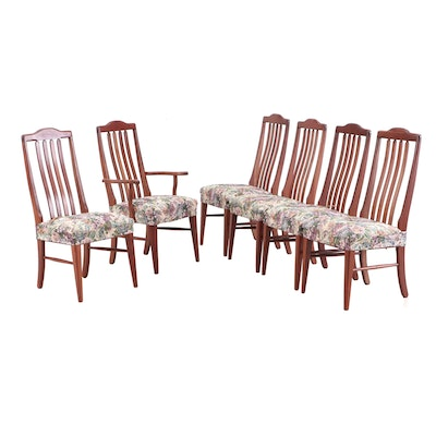 Six Oak Dining Side Chairs, by Berlin Woodworking