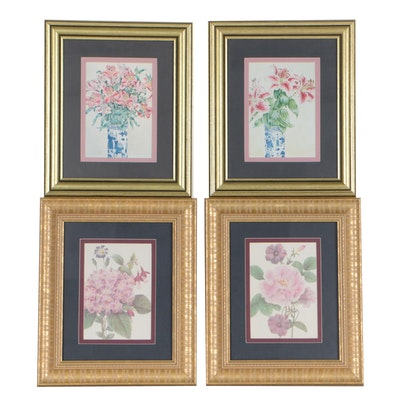 Decorative Floral Offset Lithographs
