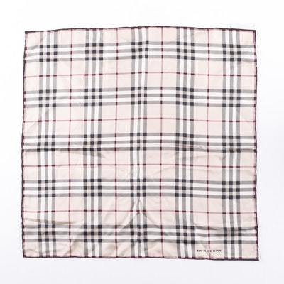 Women's Burberry Silk Plaid Scarf