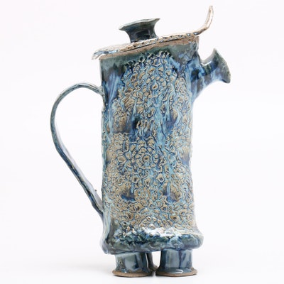Harry Guthrie Phillips Handbuilt Stoneware Coffee Pot or Teapot