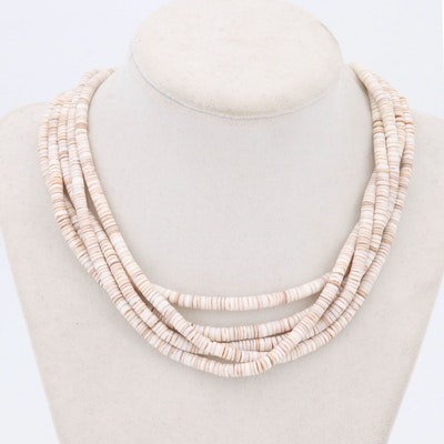 Agate Multi-Strand Tiffany and Co. Necklace with Sterling Clasp