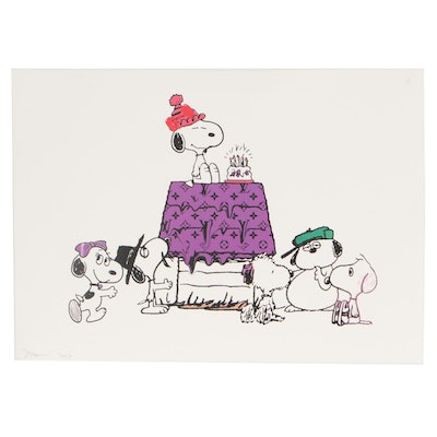 """Death NYC 2017 Graphic Print """"Snoopy Party"""""""