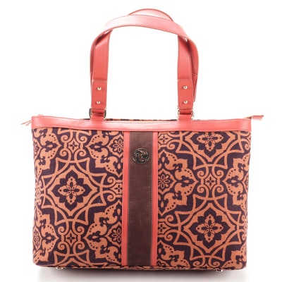 Spartina 449 Daufuskie Island Linen and Leather Tote Bag