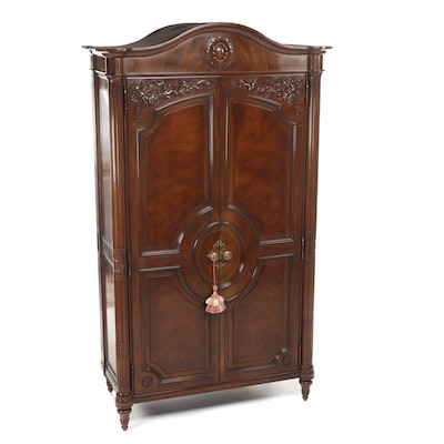 Karges Louis XVI Style Mahogany Armoire, Late 20th Century