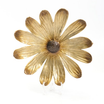 "Michael Aram for Waterford ""Daisy Flower"" Basket Enamel Tray"