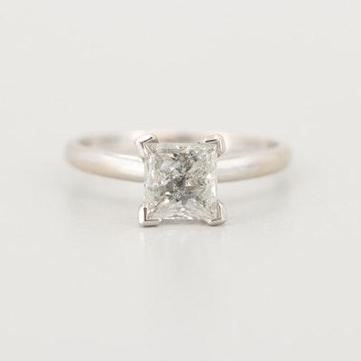 14K White Gold 1.12 CT Diamond Ring