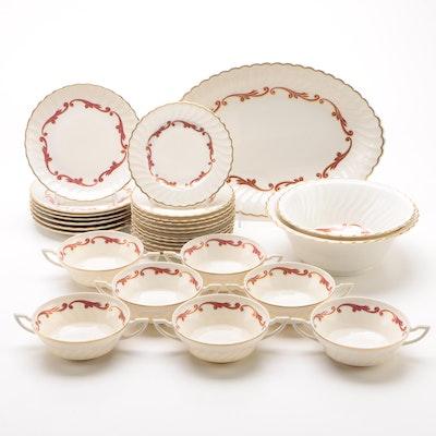 "Syracuse ""Baroque Maroon"" China Dinnerware, 1950 - 1967"