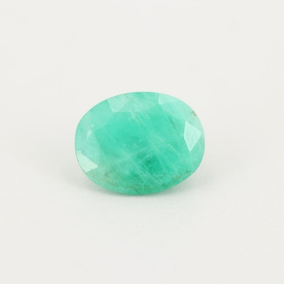 Loose 3.08 CT Emerald Gemstone
