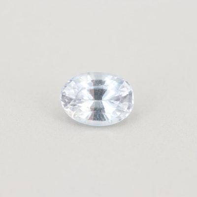 Loose 1.07 CT White Sapphire Gemstone