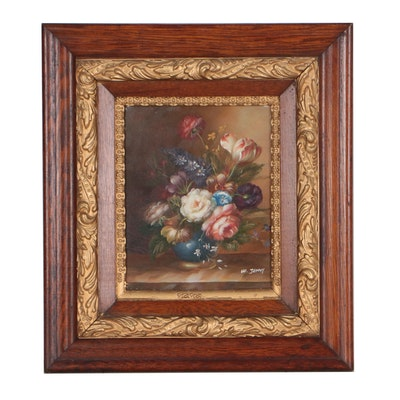 W. Jenny Floral Still Life Oil Painting