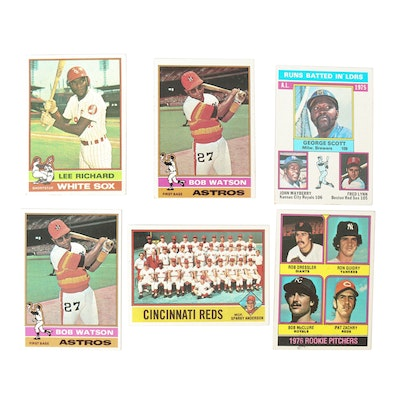 1976 Topps Baseball Cards Featuring Cincinnati Reds Card with Sparky Anderson